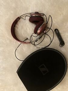 NEW Sennheiser Momentum Over the Ear Stereo Headphones With Case Pink Red