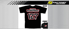 CUSTOM NAME AND NUMBER TEE SHIRT MX MOTOCROSS  Style #2