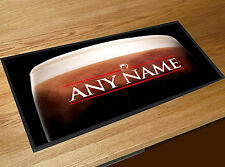 Stout Personalised bar runner Beer label counter mat ..ANY NAME..