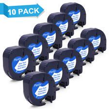 10pk 91331 Dymo Letratag Refill Compatible Dymo Label Maker Tape 12mm Plastic