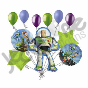 11pc Buzz Light Year Balloon Bouquet Decoration Happy Birthday Toy Story Cartoon