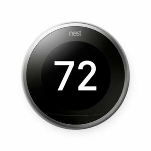 Nest T3008US Learning 3rd Generation Thermostat - Stainless-NIB