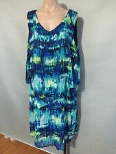 BNWT Womens Sz 18 Autograph Brand Soft Flowing Sleeveless Overlay Dress RRP $100