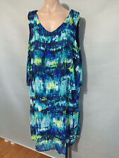 BNWT Womens Sz 14 Autograph Brand Soft Flowing Sleeveless Overlay Dress RRP $100