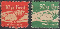 SALE Stamp Germany Revenue WWII Fascism War Era Wehrmacht Bread Pair 2 MNG