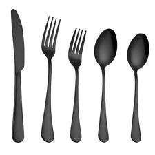 5PC Set Stainless Steel Upscale Dinnerware Flatware Cutlery Fork Spoon Teaspoon