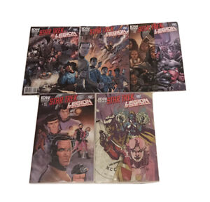 Star Trek Legion Of Super Heroes #'s 1-5 IDW Comic Lot