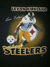 LEVON KIRKLAND PITTSBURGH STEELERS T SHIRT vtg 90s Steel Curtain 99 Jersey RARE