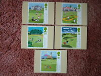 PHQ Stamp card set No 163 Golf, 1994. 5 card set.  Mint Condition.