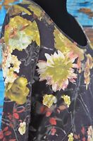 Just Cavalli Blouse Top Cotton Size Medium Floral Roses Casual Boho 3/4 Sleeve M