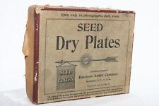 Seed Dry Plate Box by Kodak - photo glass film vintage antique