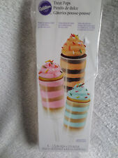Wilton Treat Pops 6 Count 7.25 x 1.75 In Portable Containers New 415-0981
