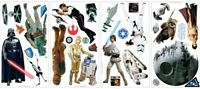 STAR WARS Classic 31 BiG Wall Stickers Yoda R2D2 Movie Room Decor Vinyl Decals
