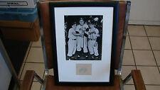 Happy Felton Autograph cut Framed Brooklyn Dodgers PSA/DNA !!