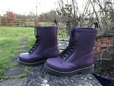 Doc Martens Drench Wellington Rubber Boots Purple UK3EU36 US5 V Lightly Used