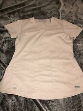 Greys Anatomy Scrub Top Small V Neck Front Pockets Back Gathers At Yoke