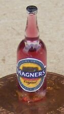 1:12 Scale Glass Bottle With A Magners Cider Label Tumdee Dolls House Bar Pub RD