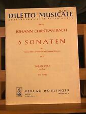 Johann Christian Bach Sonate violon basse continue op 2 5 La partition Doblinger