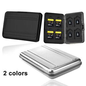 Aluminium SD Speicherkarten Tasche Etui Hülle für 8 Karten Micro SDHC SDXC TF