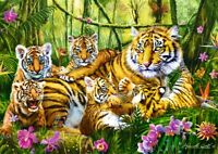 500 Pieces Jigsaw Puzzle Tiger & Cubs Animals - Brand New & Sealed