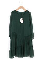 BNWT Phase Eight Womens Forest Peri Silk Tiered Dress Size L (Uk 14-16)