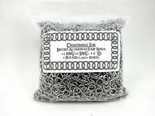 """16 Gauge 1/4"""" 1 Pound Bright Aluminum Chainmail Jump rings chain armor jewelry"""