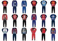 Boys Kids Children Child Toddler Teenage Long Sleeve Football Pyjamas Pjs Set