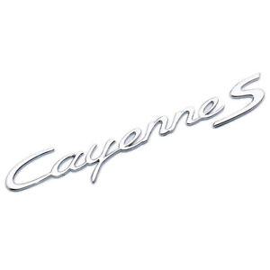 Chrome Porsche Cayenne S Letters Rear Badge Emblem Look Deck lid 958-559-675-01