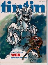 BD Comics Magazine Hebdo Journal Tintin No 37 30e 1975 Wen Dernière Volonté