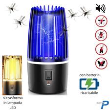 ZANZARIERA elettrica ZANZARE MOSCHE insetti VOLANTI lampada ANTI repellente per