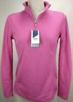 Izod Golf Womens Long Sleeve Top Shirt Size XS PInk Half Zip Pullover UPF Active
