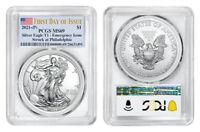 2021 (P) AMERICAN EAGLE $1 EMERGENCY ISSUE PCGS MS69 PHILADELPHIA FDOI FLAG