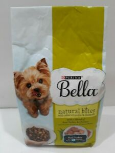 🔥Purina Bella Natural Small Dry Dog Food Natural Bites Real Turkey 3lb Bag🔥