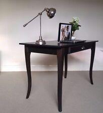 black/brown DESK 120cm vintage solid timber STUDY table 1 drawer