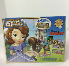 Disney Sofia The First 5 Wood Puzzle Ages 3plus New