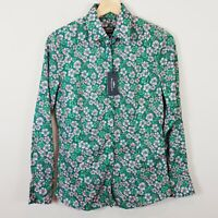 [ HERRINGBONE ] Womens Floral Print Heria Shirt NEW + TAGS RRP$229  | Size AU 8