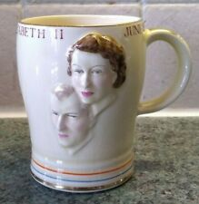 Crown Devon Fieldings Queen Elizabeth II Coronation Mug - Pre-owned