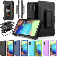 For Samsung Galaxy A51 A71 Armor Case Cover | Belt Clip Fits Otterbox Defender