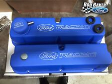 FORD RACING BLUE SATIN VALVE COVER SET fits 289/302/351W - LEFT AND RIGHT COVER