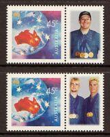 WINTER PARALYMPIC GAMES 2002 - AUSTRALIAN GOLD MEDALLISTS - MNH + TABS (R51-JP)
