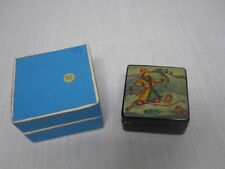 SIGNED RUSSIAN FEDOSKINO HAND PAINTED LACQUER BOX BOY ICE FISHING w CAUGHT FISH