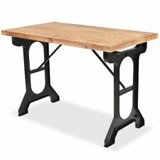 vidaXL Solid Fir Wood Top Dining Table 122x65x82cm Home Kitchen Writing Desk