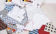 Baby Sleeping Bag 100% Organic Cotton 0 - 6 Months White Wearable Blanket