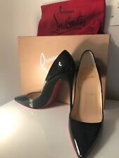 NEW! CHRISTIAN LOUBOUTIN So Kate 120 Patent Leather Black Pumps! 37 (6.5) Heels!