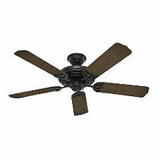 "Hunter  52"" Sea Air Textured Matte Black Ceiling Fan"
