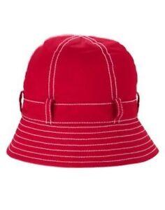 GYMBOREE BURST OF SPRING RED PICKSTITCH BUCKET HAT 0 12 24 2T 3T 4T 5T NWT