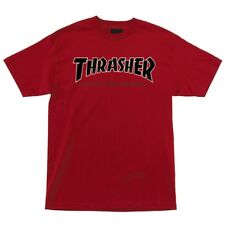 Independent x Thrasher Time To Grind Skateboard T Shirt Cardinal Red Xl
