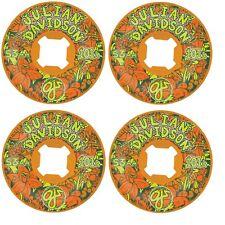 Oj 53mm Davidson Floral Original Orange Ez Edge Skateboard Wheels 101A