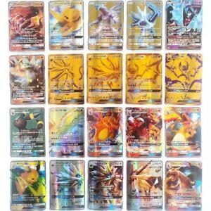 Lot de 20 50 100 Cartes Pokémon Française GX Brillante Rare Sans Double