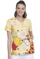 Winnie The Pooh Cherokee Scrubs Tooniforms Disney V Neck Top Tf690 Phbt